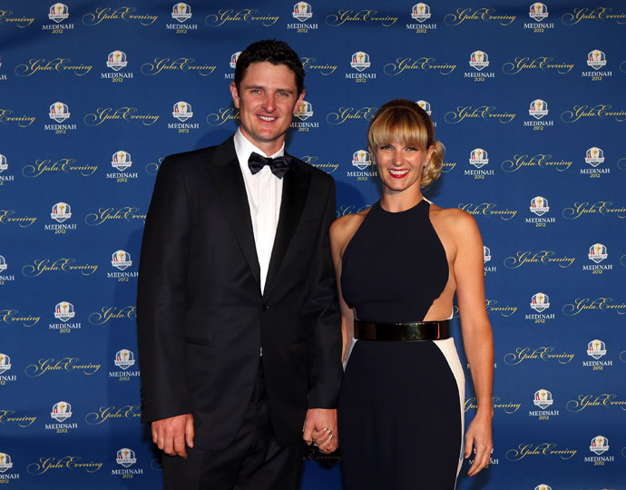 Justin Rose  and his wife Kate Rose attend the Ryder Cup Gala at Akoo Theatre at Rosemont on Sept. 26, 2012