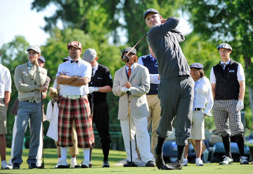 Justin Rose was one of several players to break out the plus fours.