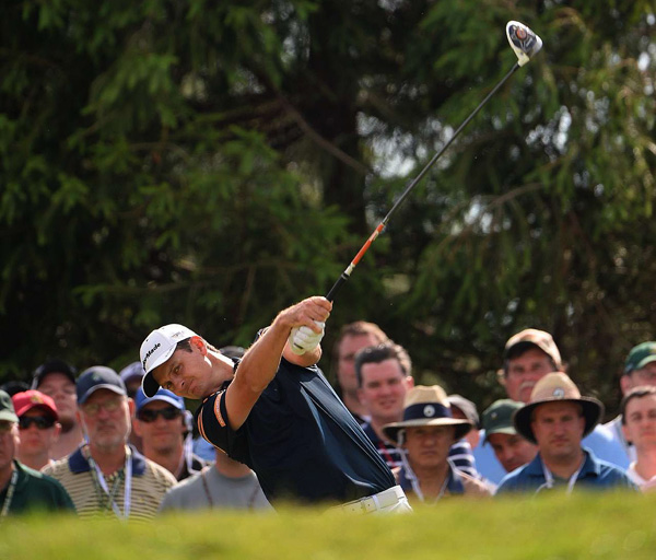 Justin Rose is one of five players at even par, one shot off the lead.