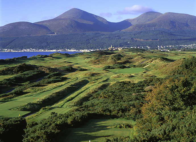 4. Royal County Down, Newcastle, Northern Ireland: Perhaps golf's most fearsome looking bunkers --deep, with the fear factor amplified by the densely whiskered edges -- populate the entire course. Golf's best front nine boasts the 217-yard, par-3 4th, with its healthy, stunning carry over gorse bushes, and the blind par-4 9th that does offer other views, the Irish Sea, the Mountains of Mourne and the red brick steeple of the Slieve Donard Hotel among them.