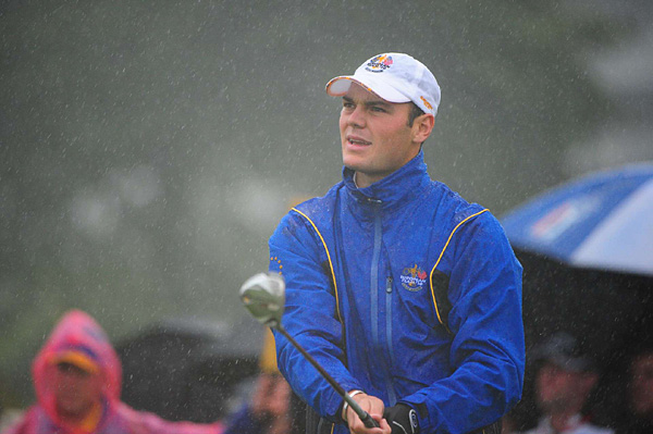 Kaymer was paired with Lee Westwood in a match against Johnson and Mickelson.