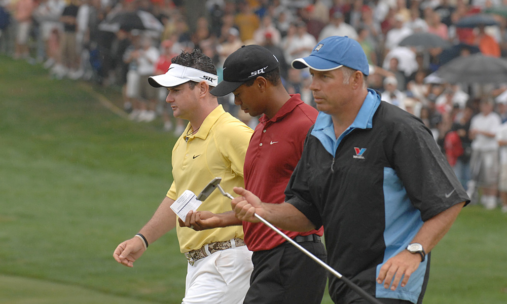 "Sabbo vs. Tiger                       After the 2007 Wachovia Championship, in which Sabbatini and Tiger played together on Sunday, Sabbatini told the media that Tiger was ""more beatable than ever"" despite the fact that Woods had actually won the tournament. Shortly thereafter, Woods came from well behind 54-hole leader Sabbatini to win the WGC-Bridgestone."