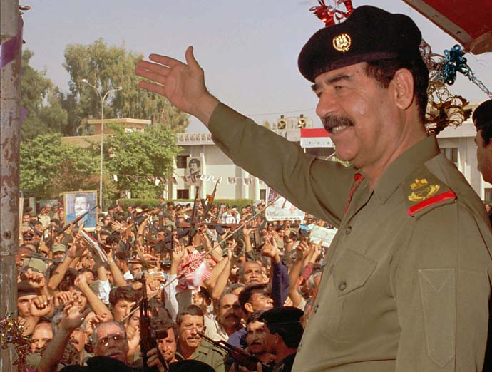 Saddam Hussein noun a ball hidden in a bunker
