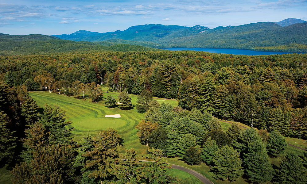 10. The Sagamore, Bolton Landing, NY; 518-644-9400, thesagamore.com                           This 1928 Donald Ross classic north of Albany is the true gem of the Adirondacks. True, the views of Lake George cease after the first tee (though it's a jaw-dropper), but the remainder showcase the master's flair for strategic design amid a succession of holes carved from thick forest, with mountain backdrops throughout. Thick rough and a variety of stances and lies on the hilly fairways demand precision shotmaking until the final putt drops.