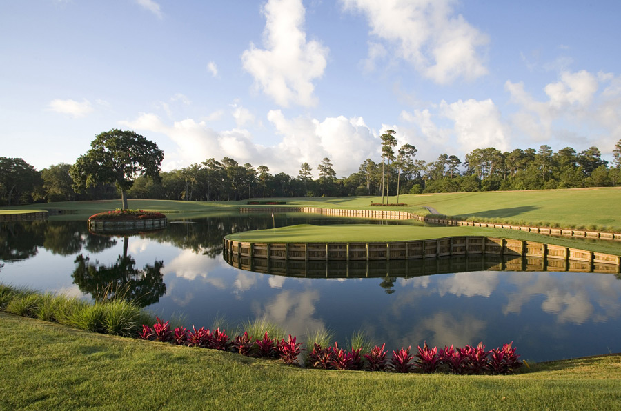 TPC Sawgrass (Stadium Course) -- No. 17, 137 yards -- Ponte Vedra Beach, Fla.                       You just plunked a pitching wedge in the water. But instead of pouting, you've got to praise Pete Dye (or his wife Alice, who envisioned the hole before her husband). Not since the prom queen rebuffed your advances has something so beautiful caused so much pain.