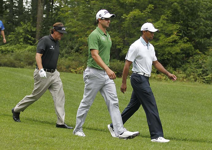 """It would be me again.""                           Adam Scott on the third wheel in the all-star pairing of Scott, Tiger Woods, and Phil Mickelson. Scott was last paired with Woods and Mickelson in the first two rounds of the 2008 U.S. Open."