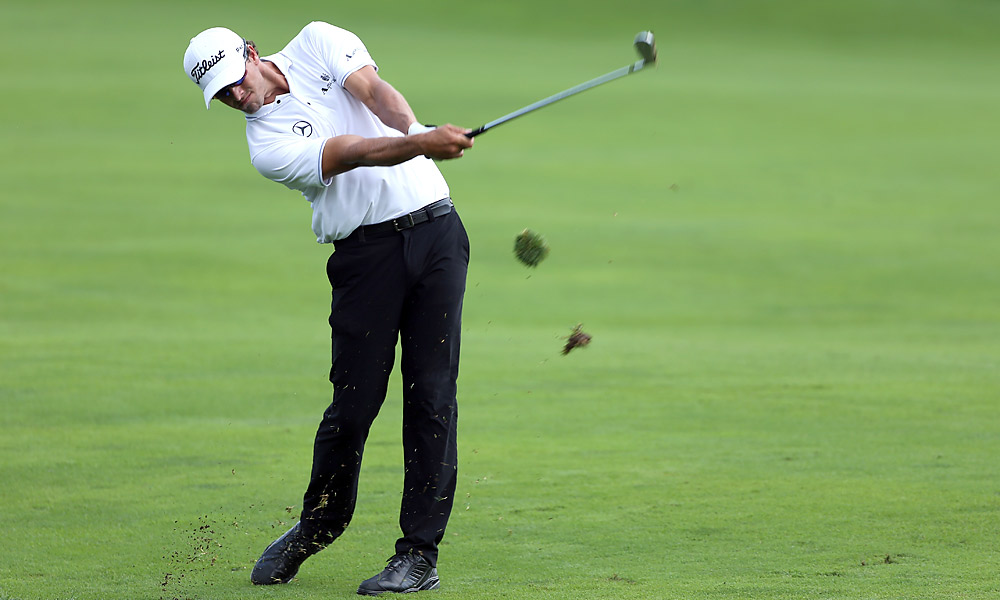 Adam Scott shot a four-under 68.