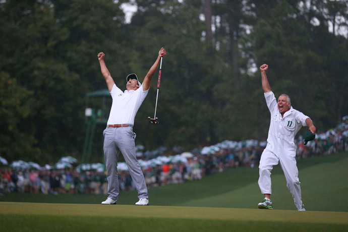 Scott credited his caddie, Steve Williams, for giving him the correct read on the winning putt.