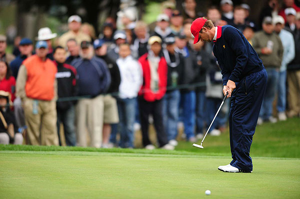 Sean O'Hair helped get the U.S. one step closer with a decisive 6-and-4 victory over Ernie Els.