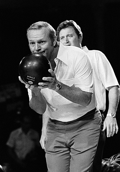 "Arnold Palmer: BowlingPalmer bowled with Ray Floyd in a televised event in Las Vegas in 1977, but his favorite sports growing up were football and pool. How good was Palmer with a cue stick? He used to get the better of Jackie Gleason, a renowned pool player who did his own trick shots as Minnesota Fats in The Hustler. """"I could beat [Gleason] at pool, golf, whatever,"" Palmer told Golf Magazine in 2010. ""The only thing he could beat me at was drinking."""