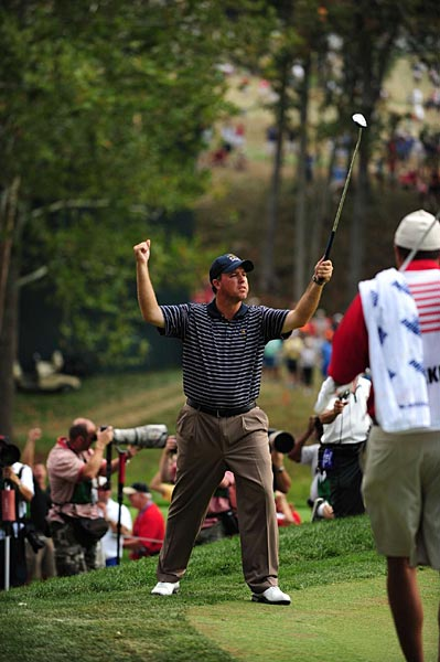 Boo Weekley, paired with J.B. Holmes, played an inspired round in a  2-and-1 win against Lee Westwood and Soren Hansen.