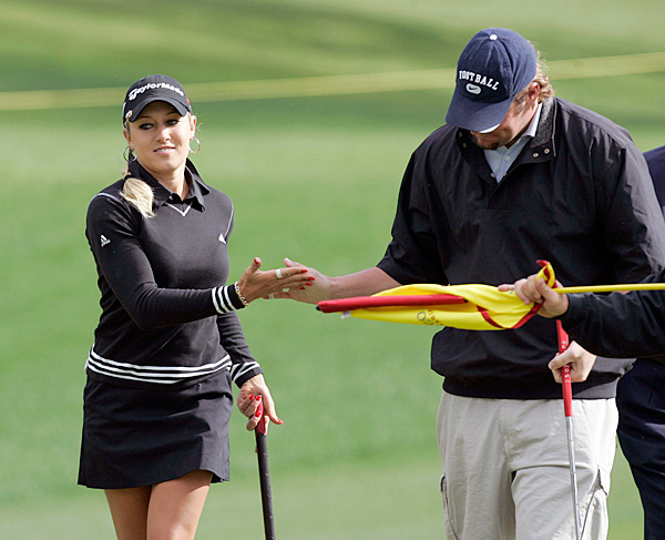 "Natalie Gulbis and Ben Roethlisburger                                              The Anna Kournikova of golf and the, uh, Charlie Sheen of football (wait, that's not fair to Charlie) dated in 2005, and they're still friends. When Gulbis played a round with Roethlisberger in May 2010, after his off-field troubles, she called him ""a great guy."""