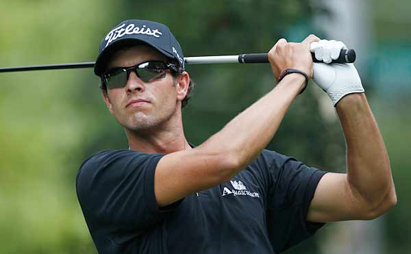 Adam Scott birdied the final two holes for a score of 67.