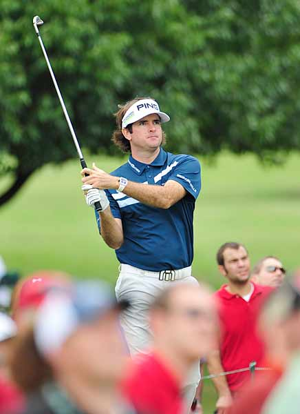 Bubba Watson birdied the first and last holes but finished at one over.