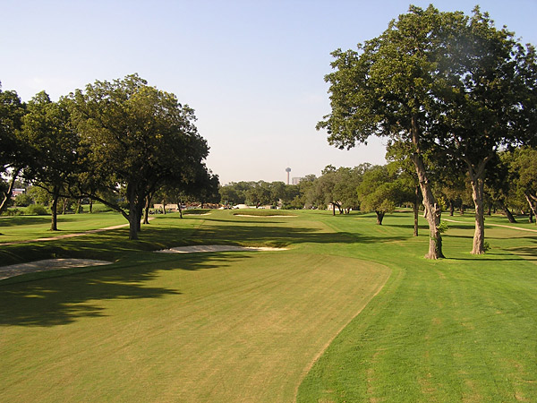 "Brackenridge Park, San Antonio, Tex. (retired) Although ""Brack"" now sparkles with a renovation that harkens back to its 1915 A.W. Tillinghast origins, when it hosted multiple Texas Opens in the 1950s, it was the saddest of sad tracks. At 6,185 yards, it proved a puny test for qualifier Mike Souchak when he captured the 1955 Texas Open, setting a PGA Tour low-scoring record of 27-under 257 in the process. The layout was so grass-poor that players teed off from rubber mats. The year before, Chandler Harper closed with three 63s to take the title. Brackenridge hosted its last PGA Tour event in 1959."