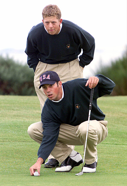 Matt Kuchar                           The three-time PGA Tour winner, 1997 U.S. Amateur champion and top-10 machine represented the U.S. in the 1999 Walker Cup. Current PGA Tour pro Bryce Molder (standing) was also on the team.