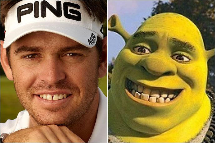 Louis Oosthuizen and Shrek