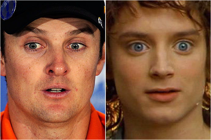 Justin Rose and Frodo Baggins