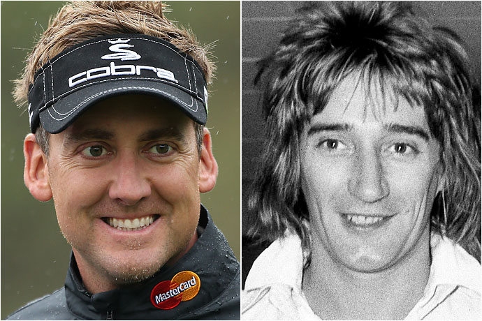 Ian Poulter and Young Rod Stewart