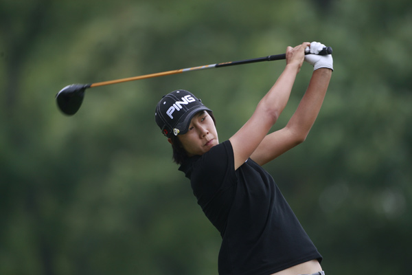 Song-Hee Kim leads by two shots after a three-under 68.