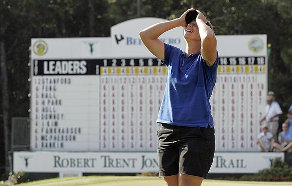 Final Round of the Bell Micro Championship                             Angela Stanford had her worst round of the tournament, shooting a 73, but hung on for a one-stroke win.