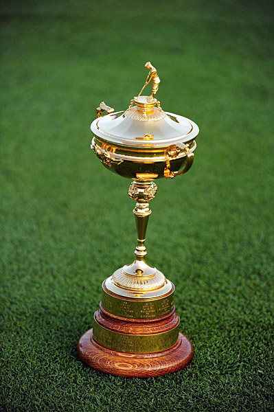The 9-carat gold Ryder Cup trophy was made in 1926.