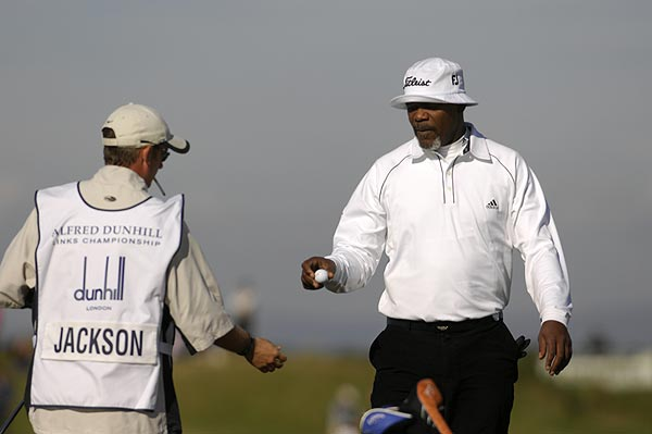 The 2008 tournament will be held over the Old Course at St. Andrews, Carnoustie and Kingsbarns. The Dunhill is an official Tour event with concurrent pro-am, but the ams often outshine the pros. Mr. Jackson is no exception.
