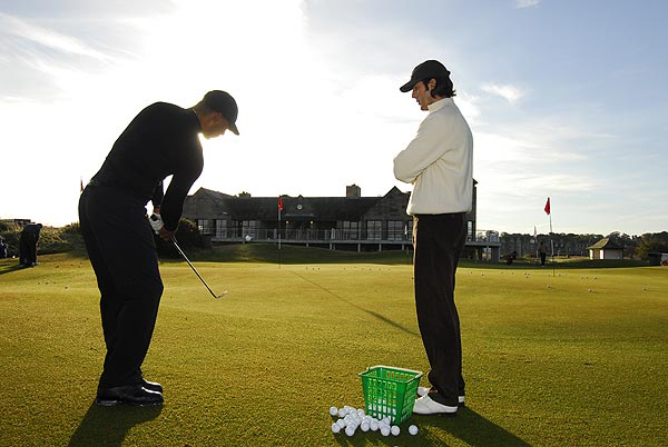 "Allen has better luck with GOLF Magazine Top 100 Teacher Robert Baker, whose Logical Golf school sets up shop at the Old Course range for gratis lessons to anyone who asks. Baker's tee is busy sunup to sundown the entire week. ""These are celebrities, yes, but they're amateur golfers,"" says Baker, ""and that's our specialty."""