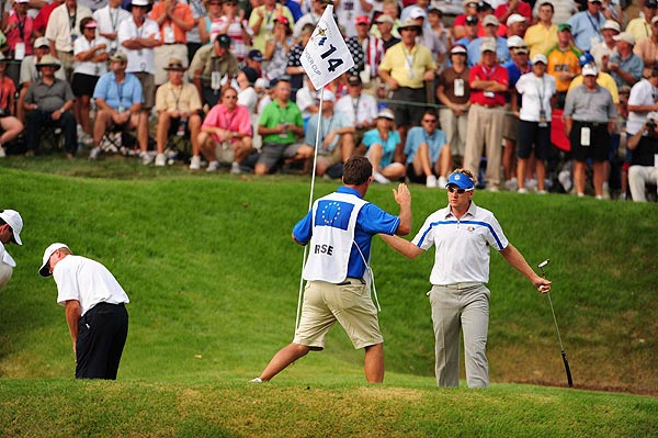 Poulter and Rose won their match, 4 and 2.