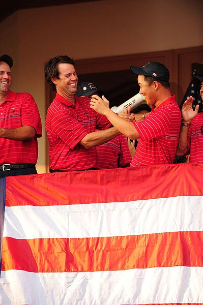 Rookie Anthony Kim was essential to the U.S. team's victory.