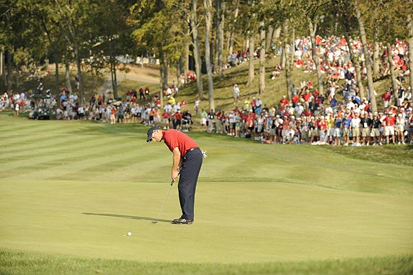 Furyk could have finished the match on 16, but he missed the putt.