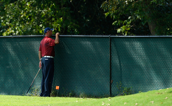 was near the lead until a quadruple bogey on No. 10. Cink hit two balls out of bounds off the tee. He finished with a two-over 72.