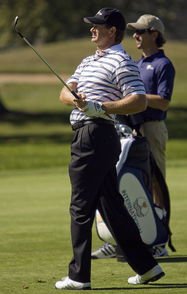 Retief Goosen of the International Team also got in some practice Tuesday.