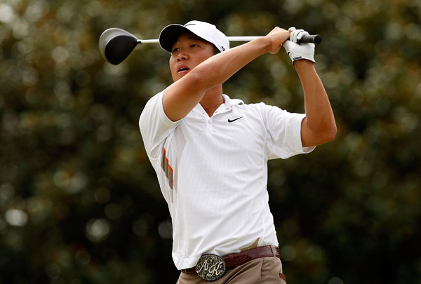 Second Round of the Tour Championship                       Anthony Kim finished with a bogey, but he still holds a two-shot lead heading into the weekend.