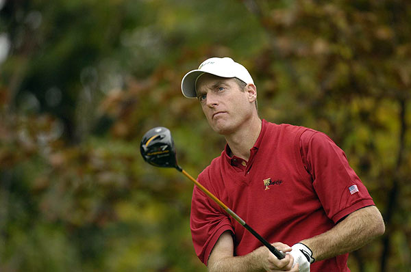 Furyk and Toms never trailed in their match against Els and Angel Cabrera. Toms made a three-foot putt to win a point.