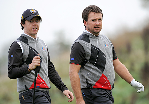 Northern Ireland's Rory McIlroy and Graeme McDowell are a likely pairing for Team Europe.