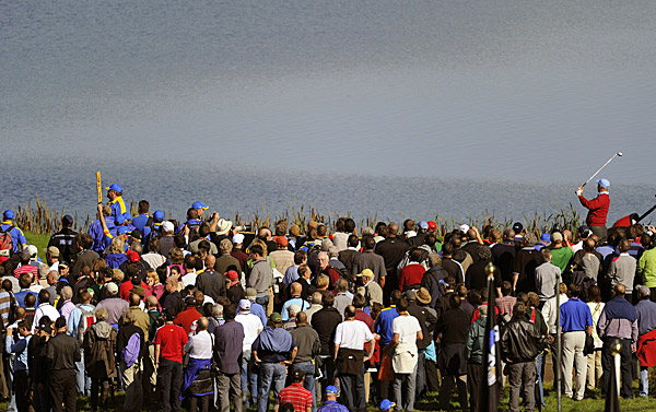 of Team USA had a large following during his practice round.