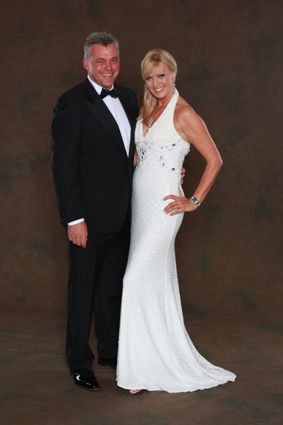 Darren Clarke and Alison Campbell.