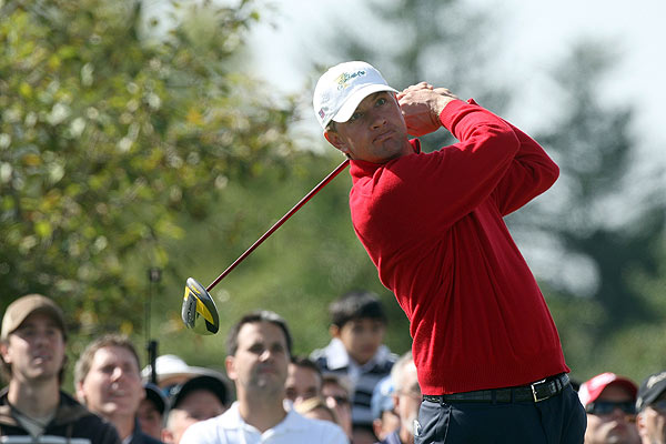 Despite leading for most of the afternoon, Lucas Glover lost his match to Ernie Els.