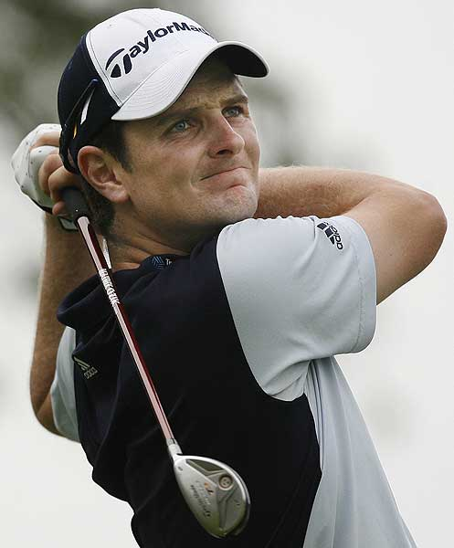 Round 1 of the BMW Championship                       Justin Rose started very hot, with birdies on eight of his first 11 holes. He finished one behind leader Jonathan Byrd.