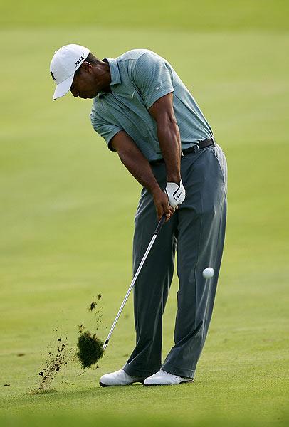 Woods double-bogeyed the par-4 seventh hole.