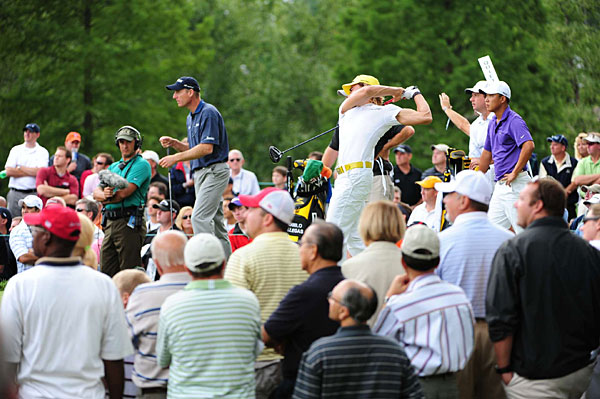 Villegas held off Jim Furyk, left, and Anthony Kim.
