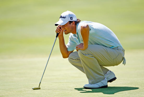 Adam Scott finished eight strokes off the lead in fourth place at 14 under par.