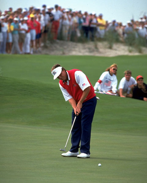 "MARK CALCAVECCHIA                           ""My worst moment was the missed two-footer                           at 17 against Colin Montgomerie at                           Kiawah in '91. [Calcavecchia blew a 4-up lead with                           four holes to play to win only a half point.] I was                           shaking. I'd just hit it in the water after he did. It was                           to win the match. Anywhere                           else it would have been a                           gimmie, but I just completely                           panicked. That was the most                           pressure I've felt. Pressure                           can only get so bad. The Ryder                           Cup is as bad as it gets.                                                       But if                           you're confident and playing                           well you can get through it.                           The perspective is what usually                           comes after you blow it. You                           try to tell yourself, 'Hey, it's                           just a game, I tried it, I blew it.'                           Then you go home                           and see your kids."""