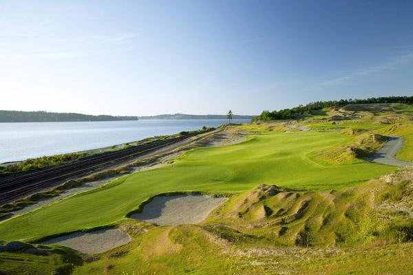 Chambers Bay                       Hole No. 16                       425 yards, par 4
