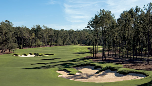 "No. 29                       Fallen Oak at Beau Rivage                                              Sure, it's an opulent Tom Fazio design                       open only to guests of an MGM hotel 20                       minutes to the south, but it's not quite fair                       to call Fallen Oak a southern-fried Shadow                       Creek. It stands on its own.                                               While Shadow                       Creek was hewn from an absolutely barren                       landscape, this 7,487-yard layout flaunts                       its natural attributes, from the rolling                       terrain to its streams, lakes and wetlands.                                              The Southern mansion clubhouse adds                       greatly to the Gone With the Wind ambience,                       but it's the individual holes that lift Fallen                       Oak from merely ""pretty"" to ""pretty great."""