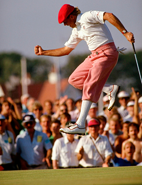 1990s                                                      The age of sponsorship changed the look of golf, as leading pros flew the colors and logos of their manufacturers. Clothing makers from Levi's to Tommy Hilfiger jumped into the game. Payne Stewart revived the Scottish-links look, with dandified knickers and tartan sweaters. With the democratization of the sport, a countertrend toward the casual emerged with acid colors, long shorts and slouchy shirts. Fred Couples epitomized the grown-up look: pleated gabardine trousers, polo shirt, visor. All business.