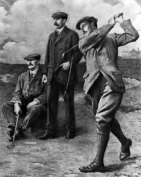 Since golf was born on the wind-swept links of Scotland, golfers have taken their style cues from their Scottish forebears. In the early days, men wore knickers, derived from the knee breeches of English court dress, usually with a thick tweed jacket and even a waistcoat. Bulky tweeds provided a warm, thorn-proof shield against the elements, but were hardly conducive to a powerful shoulder turn. Golfers also wore shirts with starched collars and ties. Sturdy shoes and a tweed cap completed the outfit. Stylish men from Piping Rock to Pebble Beach emulated their counterparts at St. Andrews, and still do. Plaid, based on Scottish tartans, remains a staple of golf style.