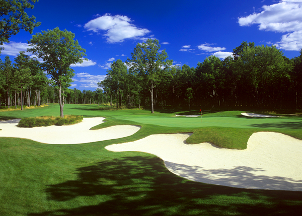 Located three hours northwest of Detroit, this Tom Weiskopf design debuted in our 2004 rankings, but it aspired to be completely private and exited the Top 100 two years later. Now fully public, Forest Dunes storms into our top 50. Credit a layout that rolls over dunes and through pine forests but plays like a classic, open British links. Strategic decisions abound, such as those on the double-fairway par-4 10th, the par-4 17th and the peninsulagreen par-5 18th. Few public players will ever sample Northern Michigan's Alister MacKenzie classic, Crystal Downs, but Forest Dunes is the next best thing.