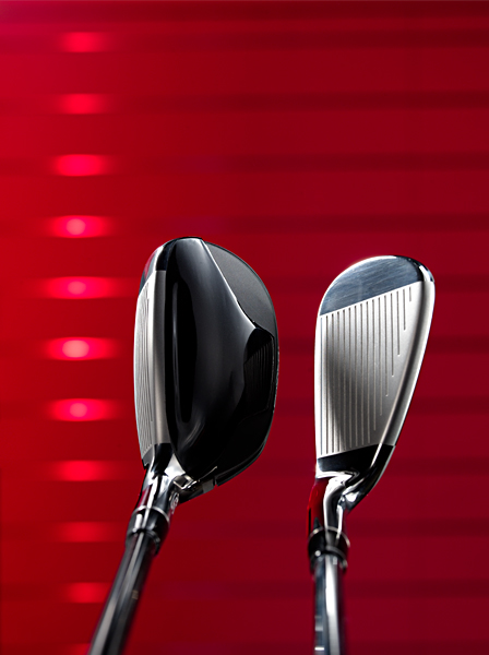 WEIGHTING In standard iron sets, the 3-iron has the lowest MOI. The highest MOI is the 9-iron. The opposite is true in hybrid iron sets due, in part, to a hybrid's hollow body. (At left, the hybrid-3 and 9-iron.)